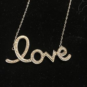Jewelry - LOVE NECKLACE ALL DIAMONDS STERLING SILVER